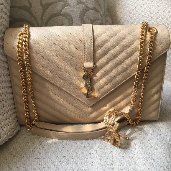 Yves Saint Laurent Bags   Ysl Large Envelope Bag   Poshmark 2cf064dc0e
